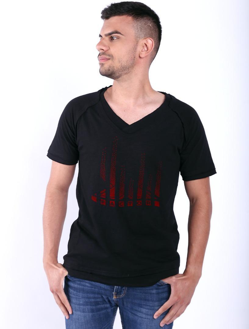 Tricou barbati negru XFactor Red Dots